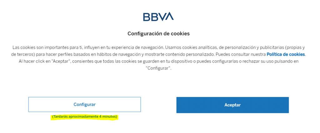 banner de cookies